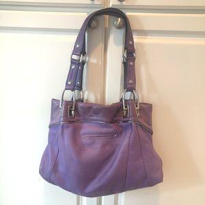 Fabulous lavender leather bag by B Makowsky